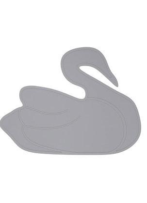 LILLE VILDE Silikon-Tischset Schwan grau