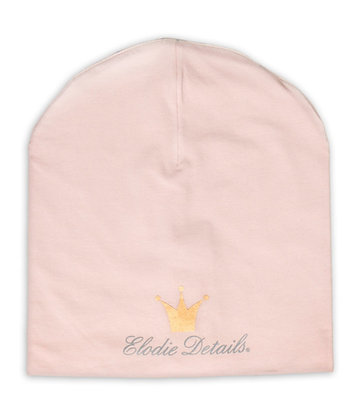 ELODIE DETAIL Logo Beanie powder pink