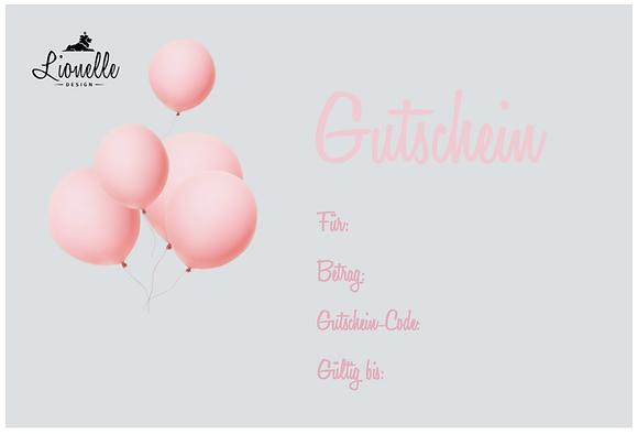 """Geschenkgutschein """"Ballon rosa"""""""