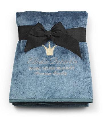 ELODIE DETAILS Pearl Velvet Blanket Pretty Petrol
