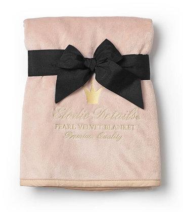 ELODIE DETAILS Pearl Velvet Blanket Powder Pink