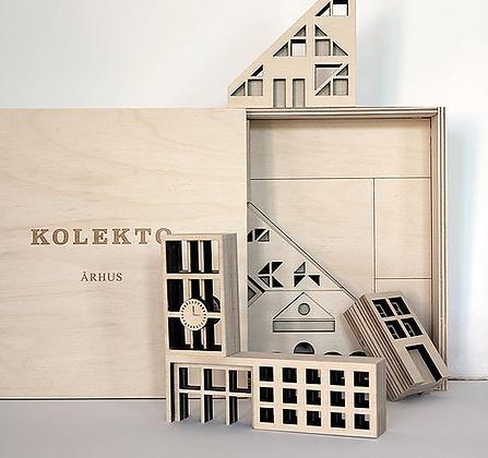 """KOLEKTO 3D-Puzzle und Spielhaus """"Arhus"""" aus Holz"""