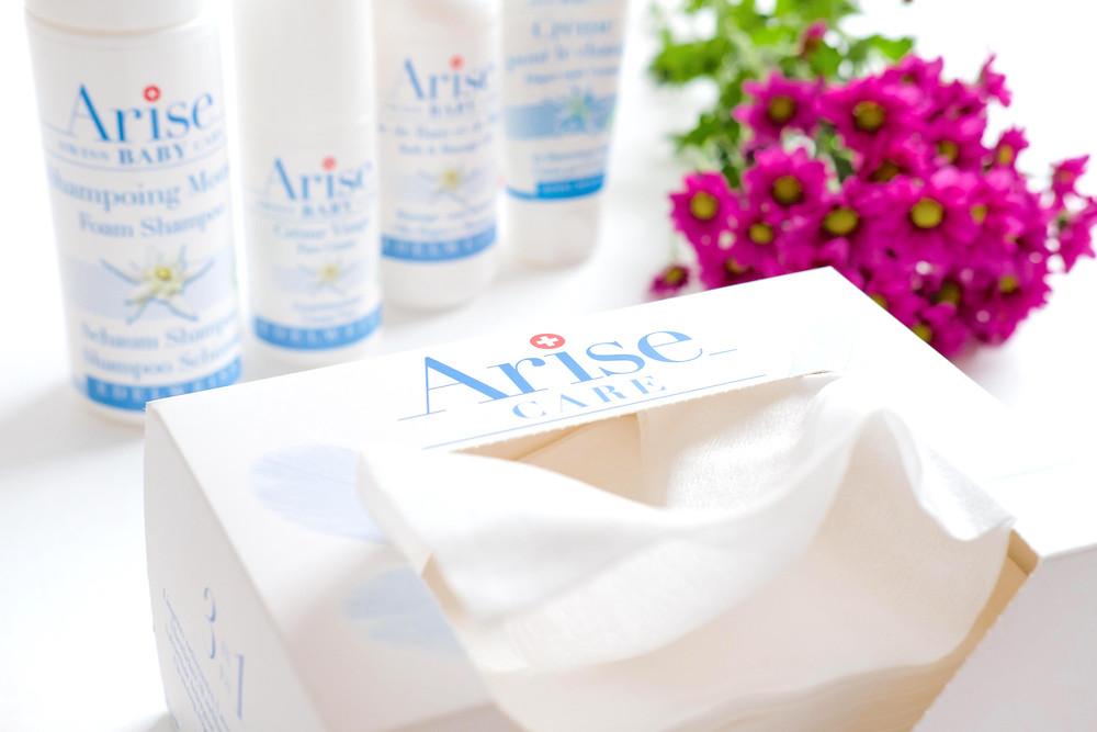 Arise, Arise Swiss Cosmetics, Naturkosmetik, Babypflege, Hautpflege, Haarpflege, Bio, Windeleinlagen, Massageöl, Badeöl