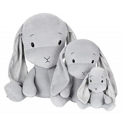 EFFIKI Bunny grau mit Ohren Dots (Grössen 20cm, 35cm, 50cm)
