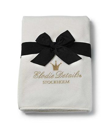 ELODIE DETAILS Pearl Velvet Blanket Vanilla White