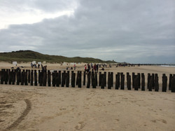 Erstsemesterübung am Strand Domburg