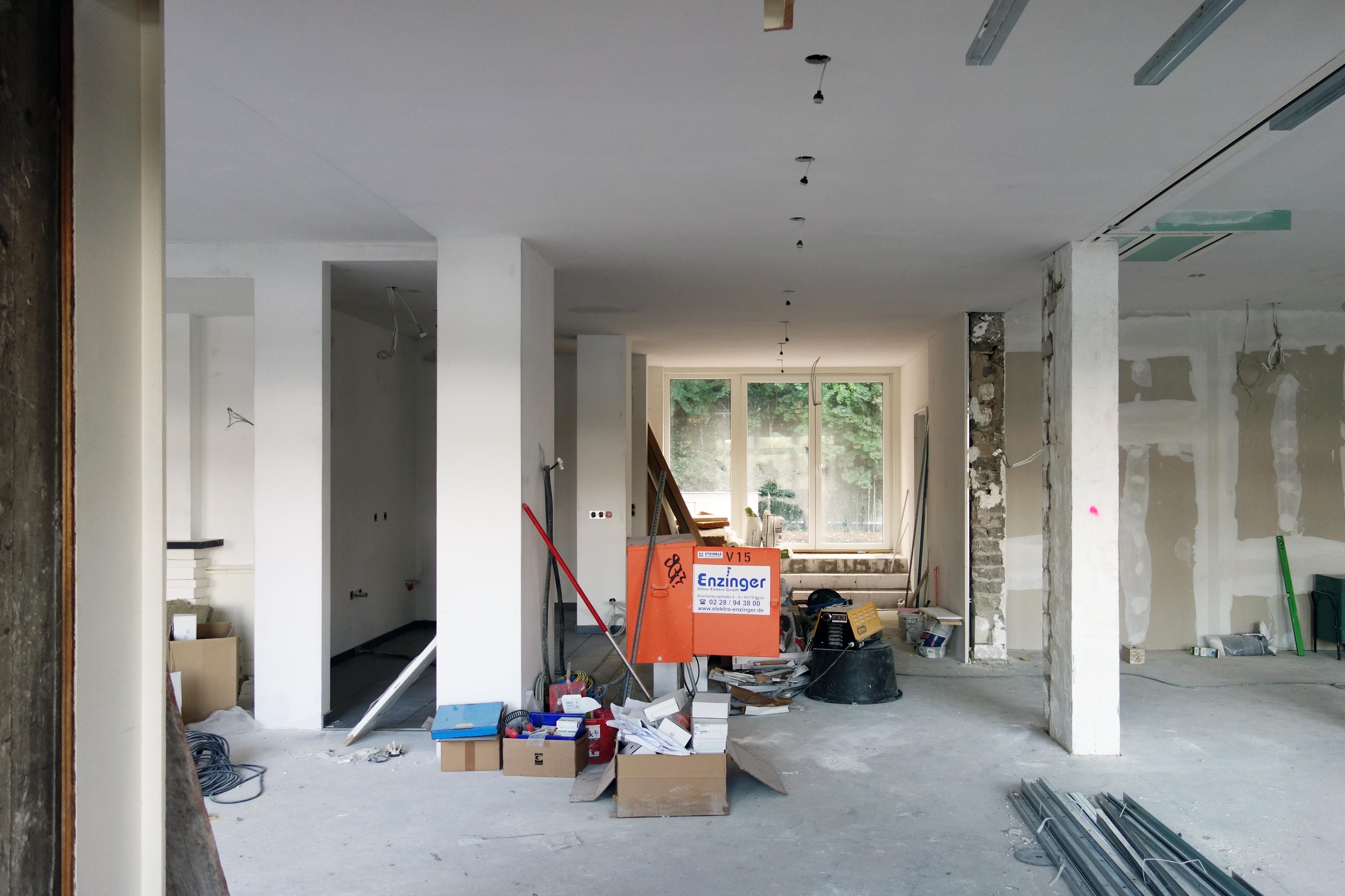 Baustelle Terrassenausgang