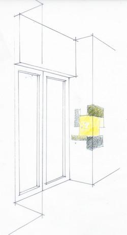 Skizze Aufzug