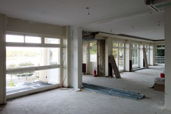Baustelle Fenster Rheinseite