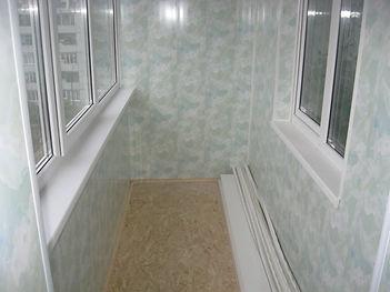 Внутренняя отделка балконов и лоджий панелями ПВХ в Красноярске дешево