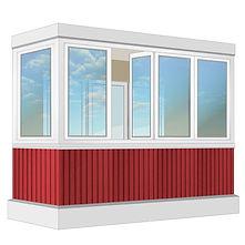 Тёплое остекление балконов пластиковыми окнами в Красноярске