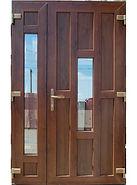 Цветная входная дверь ПВХ коричневого цвета на заказ в Красноярске дешево
