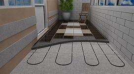 Тёплый пол с подогревом  для балконов и лоджий в Красноярске