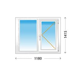 Одностворчатое окно ПВХ на кухню, в спальню, детскую