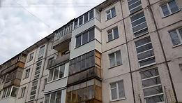 Алюминиевое остекление балкона на 4 этаже в Красноярске