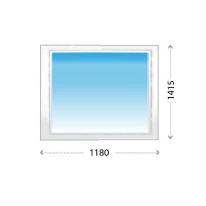 Глухое окно ПВХ для жилых и нежилых помещений