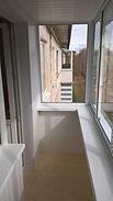 Холодное остекление балкона алюминиевой рамой в Крснярске