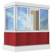 Холодное остекление балконов раздвижными AL окнами в Красноярске
