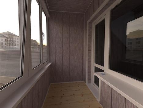 Внутренняя отделка балконов и лоджий панелями МДФ в Красноярске
