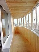 Теплое ПВХ остекление пластиковыми окнами 11-метровой лоджии в Красноярске