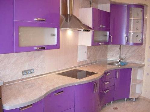 Кухня на заказ из МДФ с глянцевым покрытием в Красноярске по низкой цене