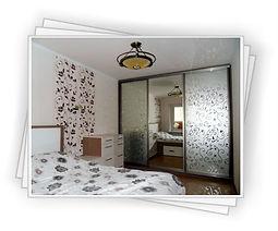 Шкаф-купе с большим зеркалом для спальни в Красноярске