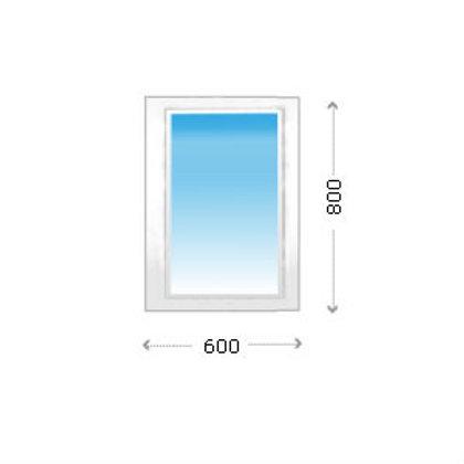 Глухое окно ПВХ для нежилых помещений узкое