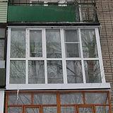 Французский балконв хрущевке. Остекление от пола до потолка в Красноярске