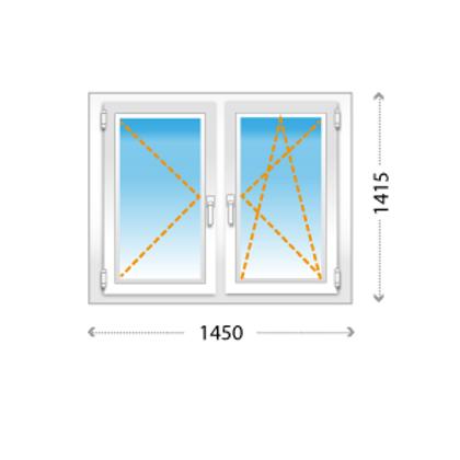 2-створчатое окно ПВХ для небольших комнат