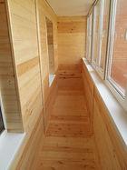 Теплое остекление лоджии окнами ПВХ с внутренней отделкой в Красноярске