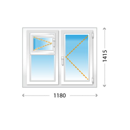 Одностворчатое окно ПВХ с форточкой на кухню