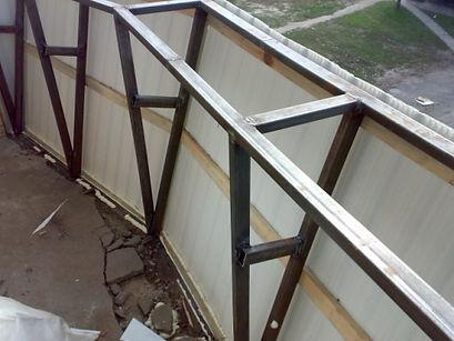 Вынос балкона с применением сарки в Красноярске