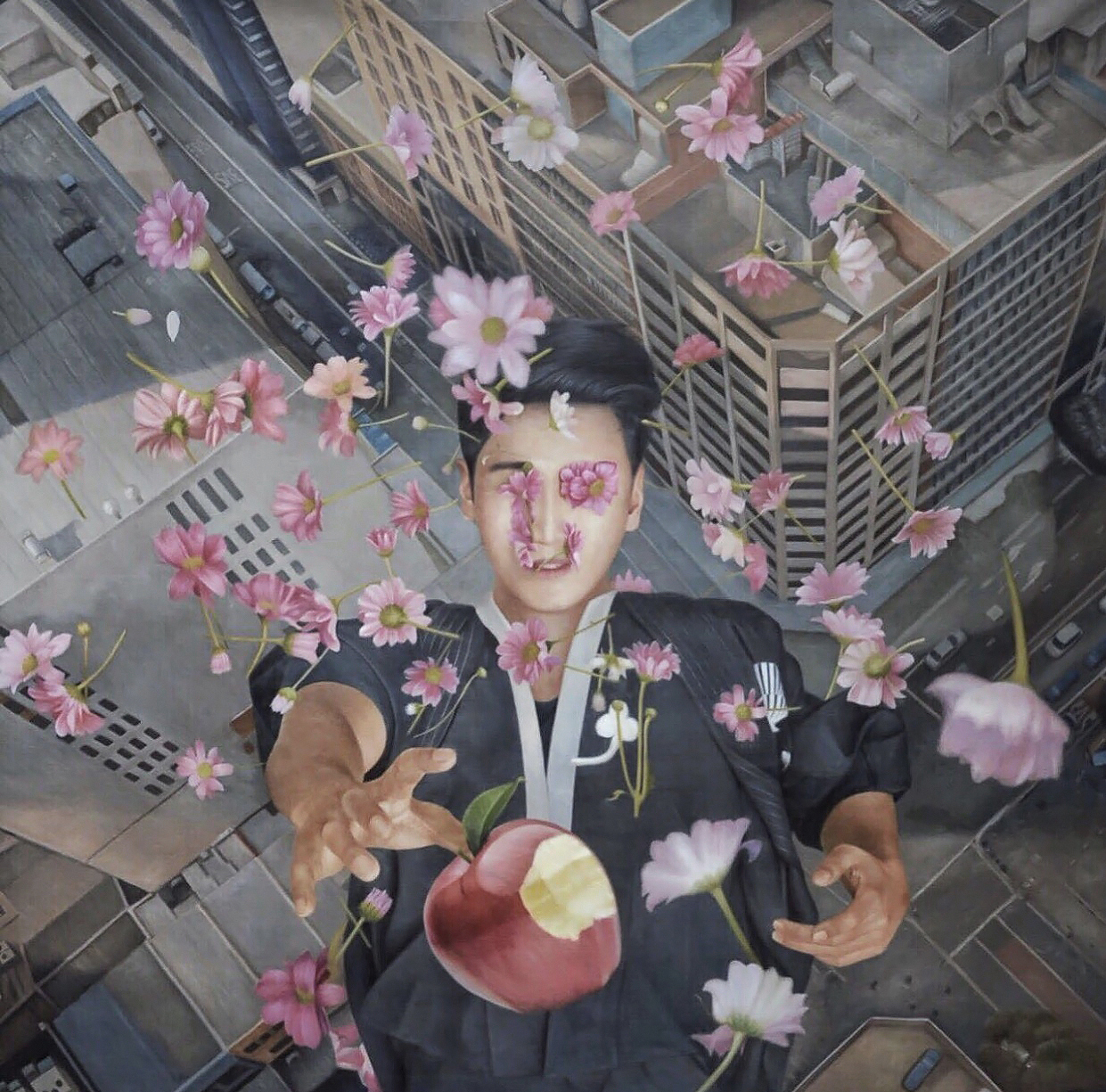 Aiman Hakim Artist Singapore Utarit koons Oil Painting Snow white apple