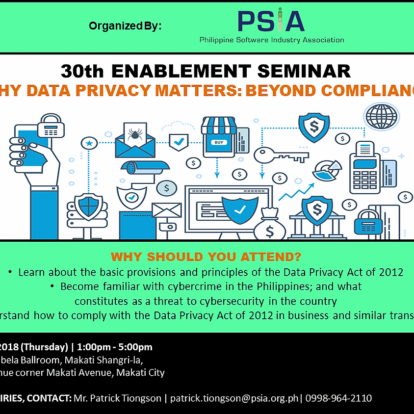 30th Enablement Seminar: Why Data Privacy Matters: Beyond Compliance