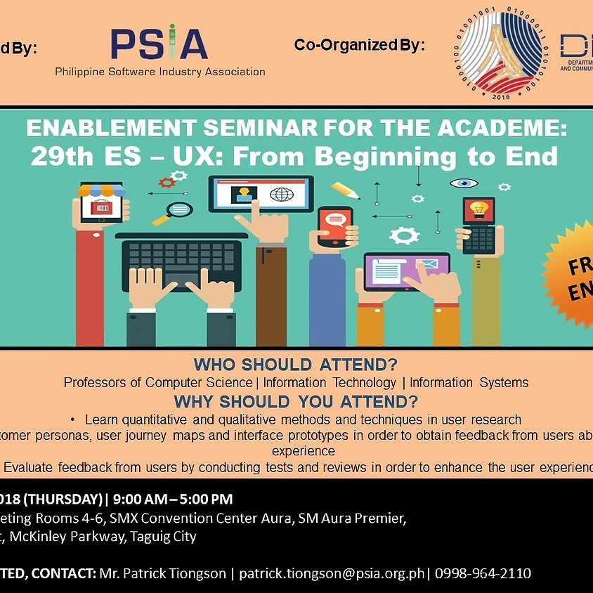 29th Enablement Seminar for the Academe - UX: From Beginning to End