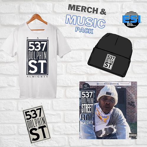 537 Dolphin Street- Merch & Music Pack -  *CD*