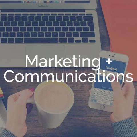MARKETING + COMMUNICATIONS