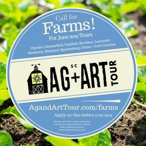 South Carolina Ag + Art Tour Accepting Farm Tour Sites  for 2019 June Tours