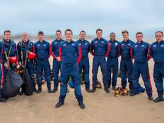 Parachute display Team