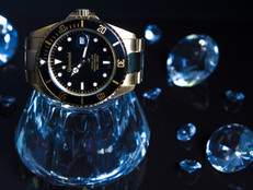 Watch with black background
