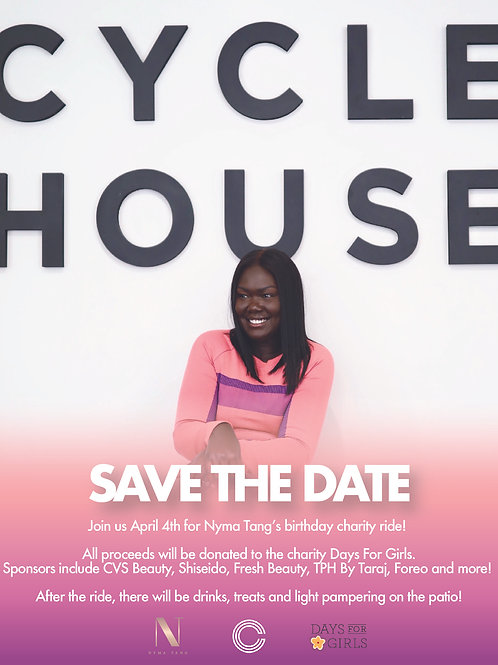 Nyma's Birthday Charity Cycle Ride at Cycle House