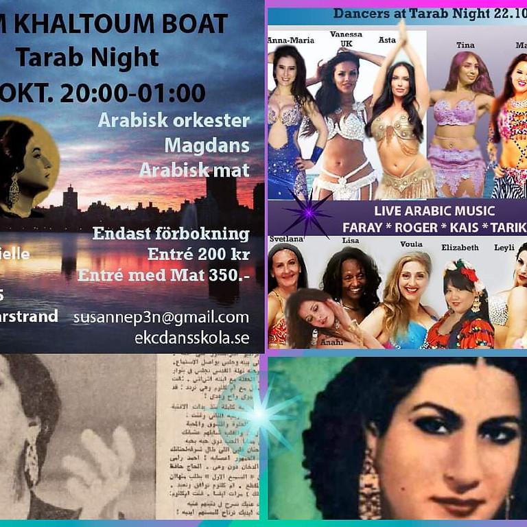Oum Khaltoum Boat - Arabisk levande musik, Arabisk mat, Magdans