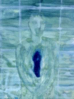 La fenêtre, détail, huile sur toile 50x80cm