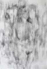 Anaëlle, graphite sur papier 75x110 cm