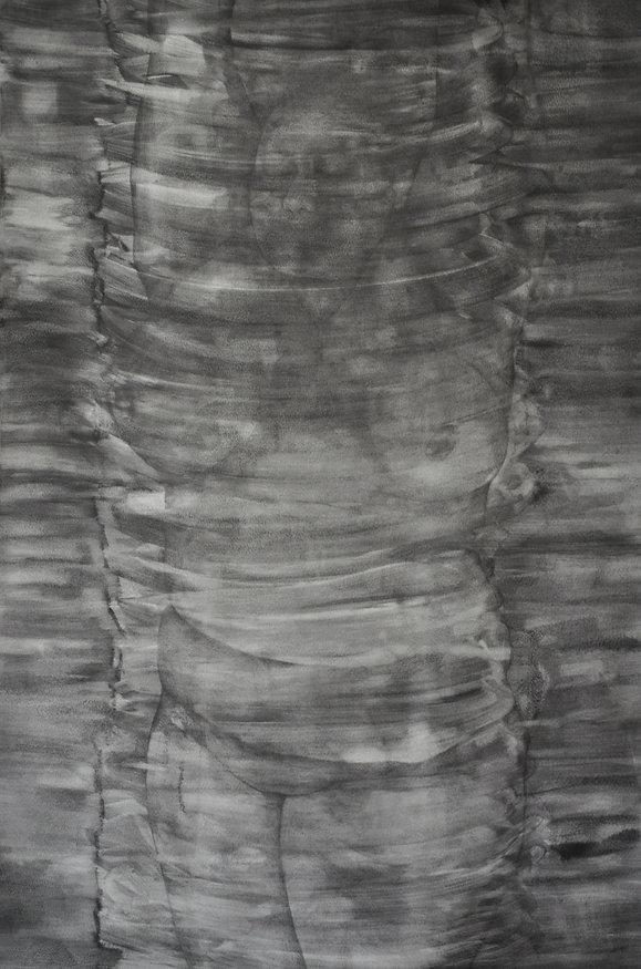 Cercles, graphite sur papier 75x106 cm