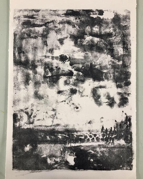 Paysage, papier arche 38x56cm
