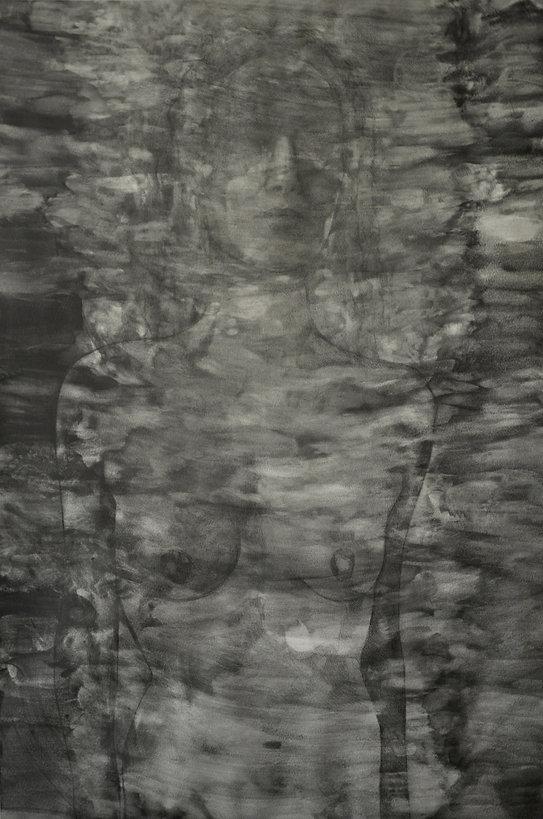 Eléonore, graphite sur papier 75x106 cm