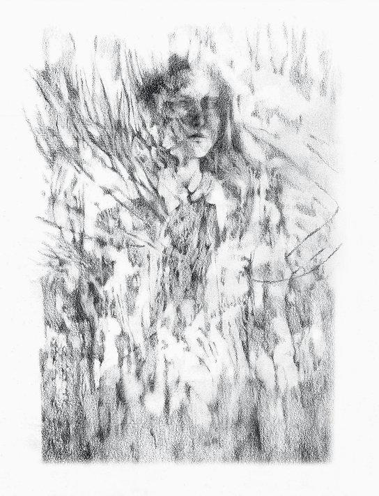 Femme Arménienne, graphite sur papier 21x29,7 cm