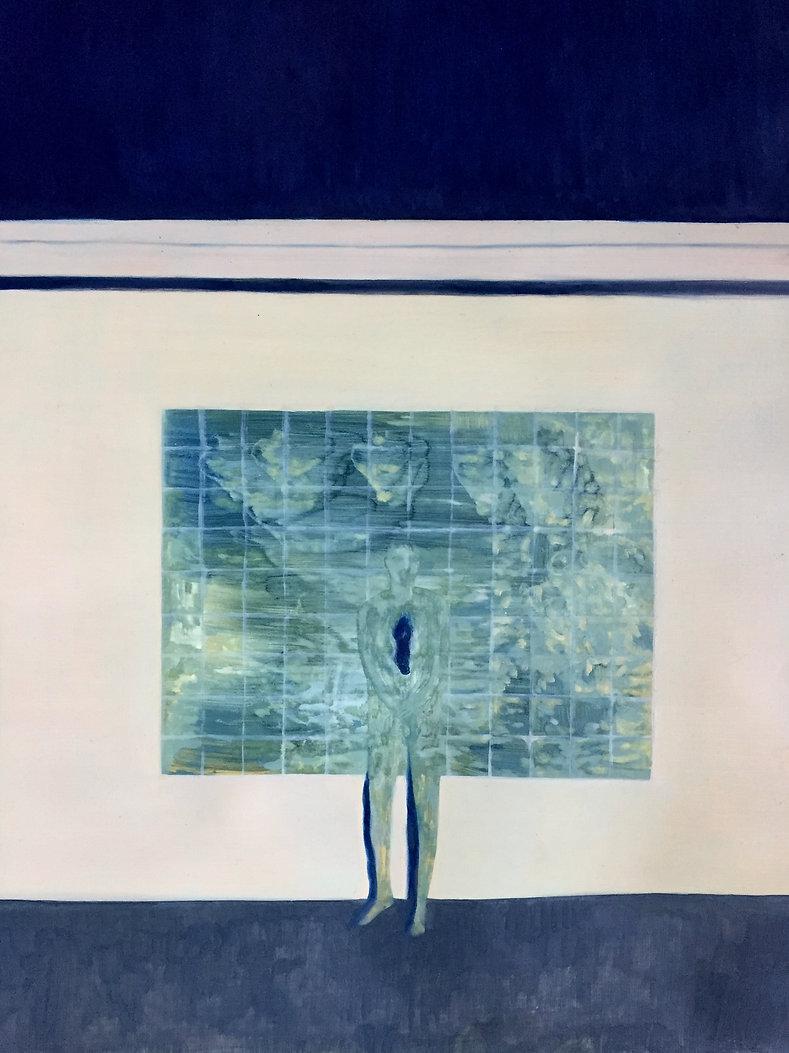 La fenêtre, huile sur toile 50x80cm
