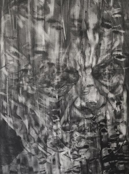 Perte d'identité, graphite sur papier 75x106 cm